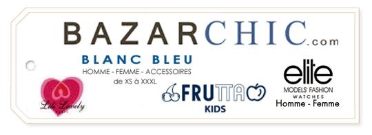 Ventes Privées Lili Lovely (PAP Femme), Blanc Bleu (Homme Femme Accessoires), Frutta Kids et Elite Montres sur BazarChic.com