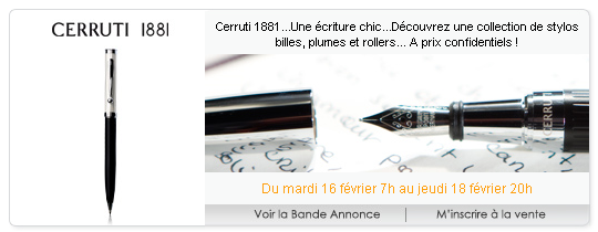 Vente privée de stylo Cerruti 1881 sur Club-Privé.fr