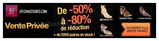 Vente Privée JEF Chaussures: jusqu'à -80% de réduction sur 2000 paires femme