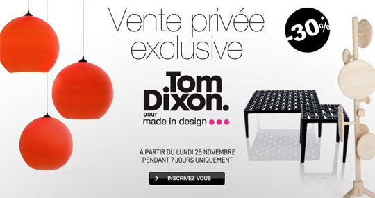Vente privée Tom Dixon