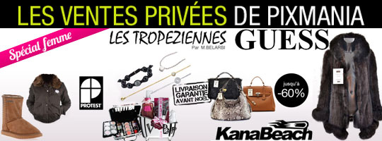 Vente Privée Sacs, fourures, bottines, bijoux, maquillage…
