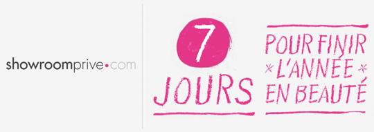 «7 jours pour finir en beauté» sur Showroomprive.com