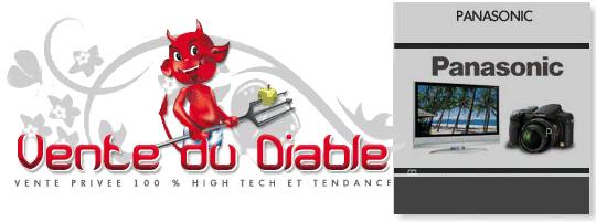 Vente privée TV écran plat et appareils photos Panasonic sur Vente-du-diable.com