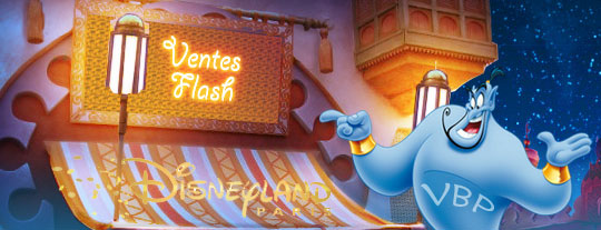 Vente Flash -50% de réduction DisneyLand paris