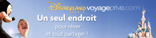 Vente privée DisneyLand Paris